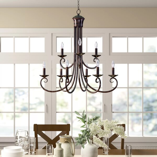 Charlton Home® Kenedy 9-Light Candle Style Tiered Chandelier .