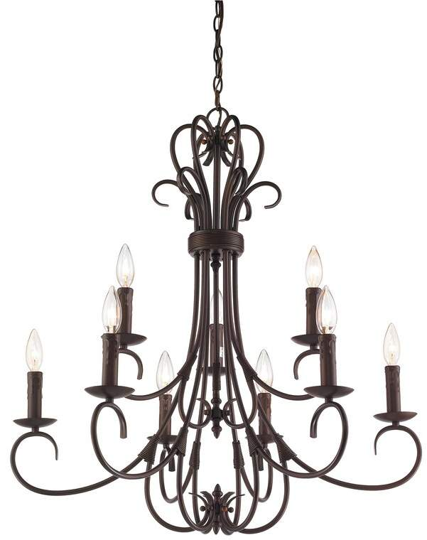 Alcott Hill Gaines 9-Light Candle Style Chandelier | Chandelier .