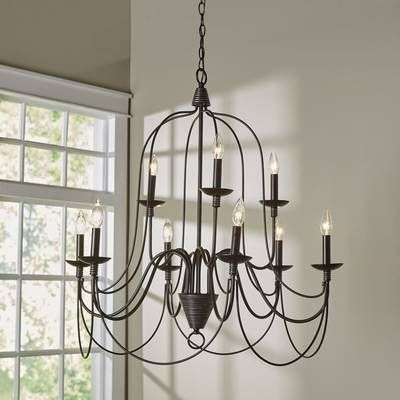 Gaines 9-Light Candle Style Tiered Chandelier | Country chandelier .