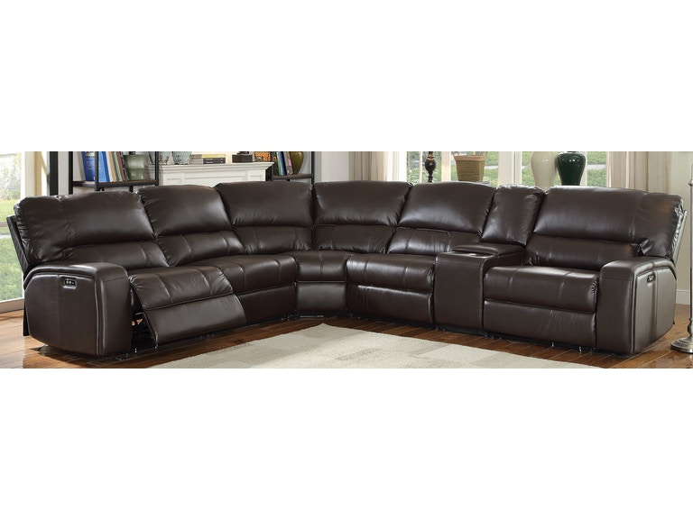 Acme Furniture Living Room Saul Sectional Sofa (Power Motion .