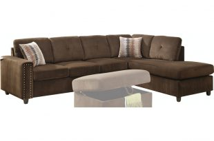 Acme Furniture Living Room Belville Sectional Sofa with Pillows .