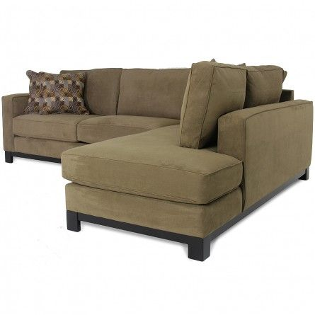 JONATHAN LOUIS ECHO SUEDE SECTIONAL - SOFA, SECTIONAL, LIVING ROOM .