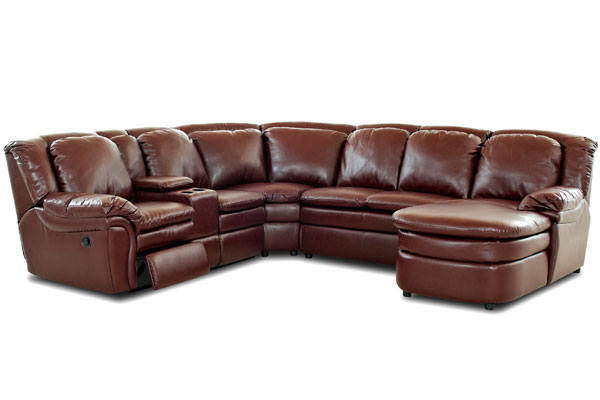 Karring Leather Sectional at Gardner-Whi