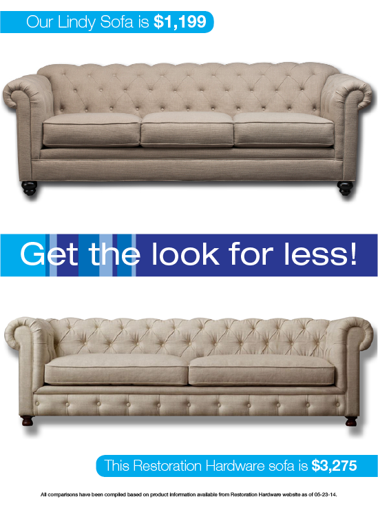 Look for Less: Trendy Transitional Sofa – Gardner-White Bl