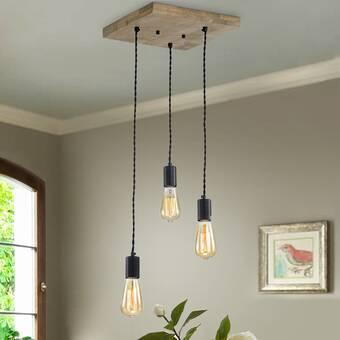 Gracie Oaks Benghauser 3 - Light Cluster Bulb Pendant | Wayfa