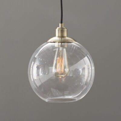 Langley Street Gehry 1-Light Single Globe Pendant | Pendant lighti