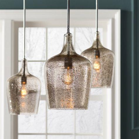 Rea 1-Light Bell Pendant in 2020 | Glass pendant light, Pendant .