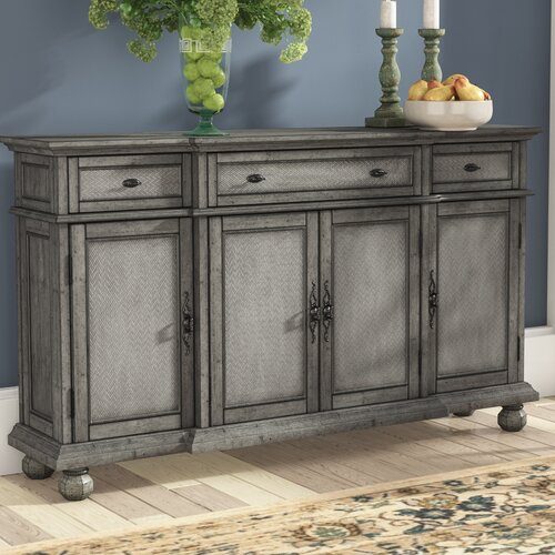 August Grove Giulia 3 Drawer Credenza & Reviews | Wayfa