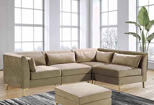 Amazon.com: Iconic Home Girardi Modular Chaise Sectional Sofa .