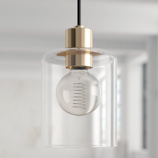 Mercury Row Kearse 1-Light Single Cylinder Pendant & Reviews | Wayfa