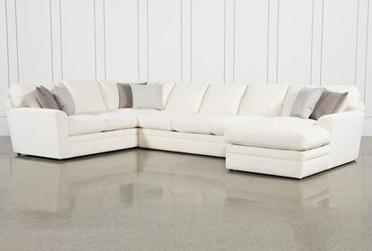 Prestige Down 3 Piece Sectional With Right Arm Facing Chaise .
