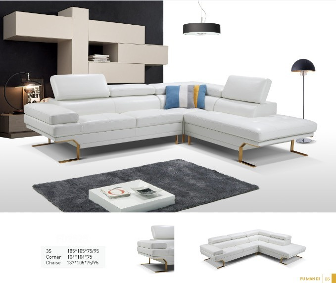 China New Italia Simple Fabric Goose Down Living Room Sectional .