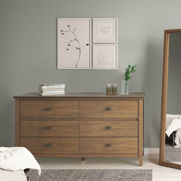 Three Posts Gosport 4 Drawer Double Dresser | Wayfa