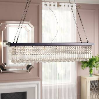 Rosdorf Park Bratton 4-Light Kitchen Island Rectangle Pendant .