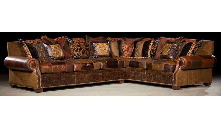 Grand home furnishings. Plush sectional sofa.