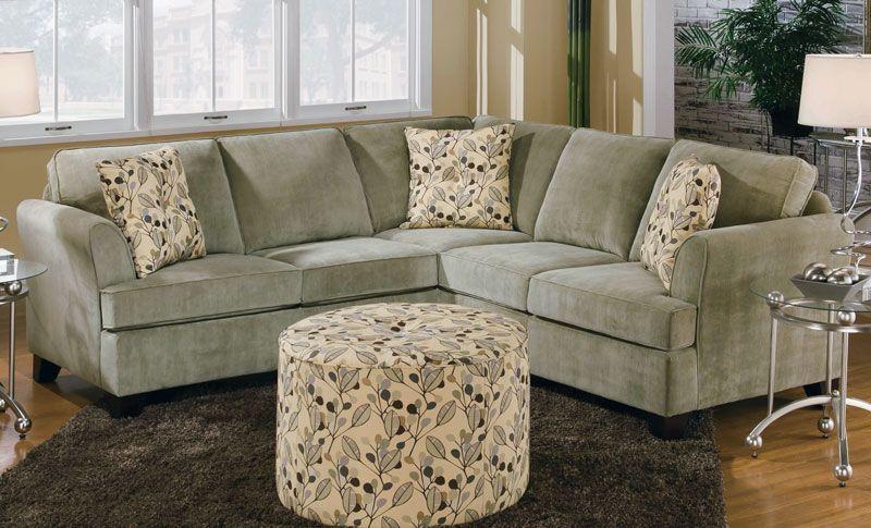 2-Piece Sectional Sofa - Grand Home Furnishings | K2399 | Ottoman .