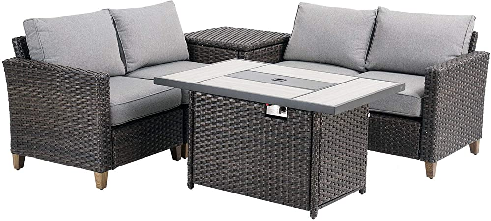Amazon.com: Grand patio Outdoor Conversation Set with Fire Pit, 6 .