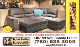 Modular Sectional Converts Quickly to Extra Bed, Towne Centre .