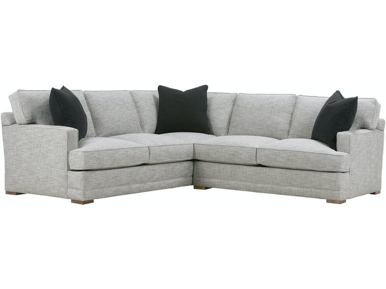 Rowe Living Room Sectional P705-SECT - Wenz Home Furniture - Green .