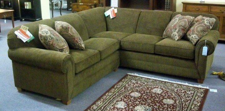 Olive Green Sectional Sofa | Sofa images, Best leather sofa .