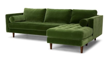 Rent Article Sven Right Sectional Sofa Grass Green | Sectional .