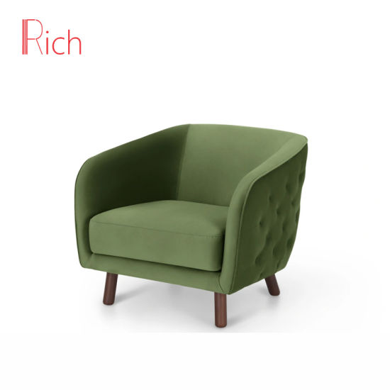 China Green Modern European Fabric Button Back Couch Home Living .