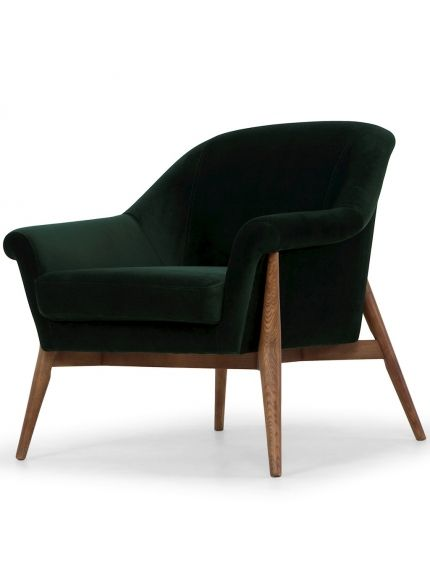 Charlize Single Seat Sofa In Emerald Green Fabric Seat | Single .