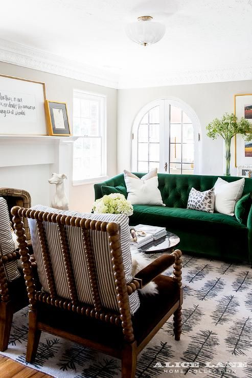 Green Sofa Chairs – incelemesi.net in 2020 | Transitional living .