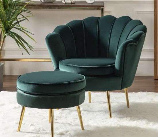 China Fashionable Lovely Green Color Single Sofa Chair in Rubber .