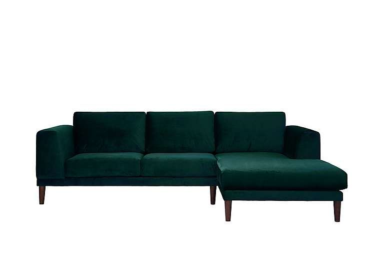 Aria 3 Seater Chaise End Sofa | Green sofa, Upholstered chaise, So