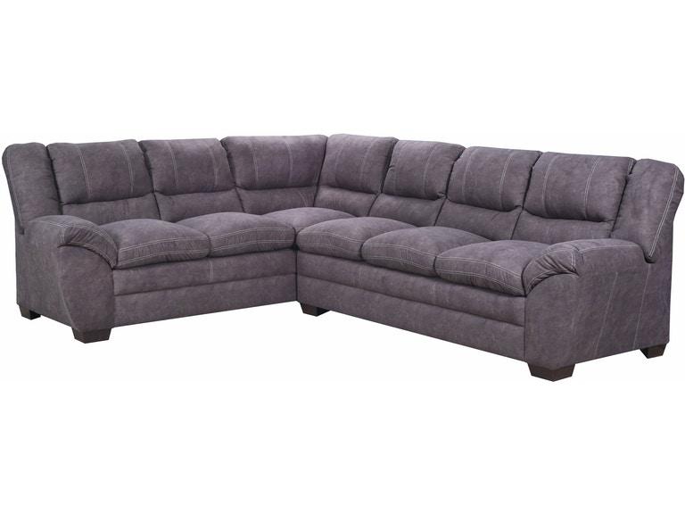 Simmons Upholstery & Casegoods Living Room 9511-LAF Bump Sofa .