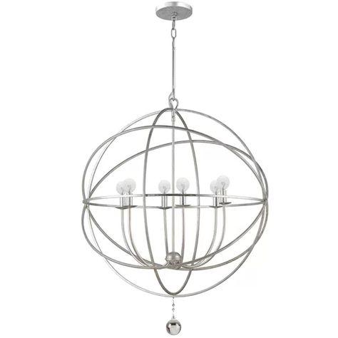 Gregoire 6 - Light Unique/Statement Globe Chandelier | Orb .