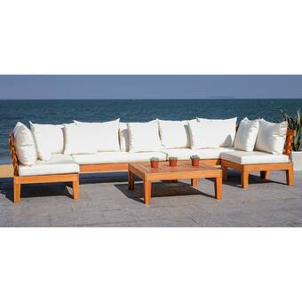Rosecliff Heights Greta Sectional Seating Group with Cushions .