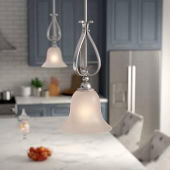 Fleur De Lis Living Grullon 1 - Light Single Bell Pendant .