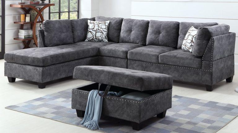SNOW – DARK GREY Sectional Sofa Bolgatti Furniture – Shop Comfort .