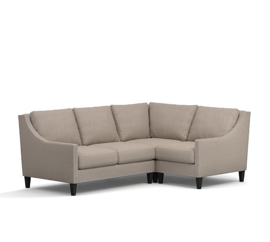 Pasadena Upholstered 3-Piece Sectional With Corner   Corner .