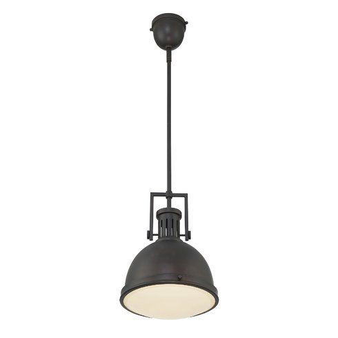 Hamilton 1 - Light Single Bell Pendant | Glass diffuser, Mini .