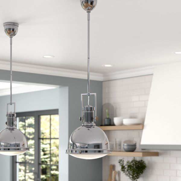 Hamilton 1 - Light Single Bell Pendant | Modern farmhouse lighting .