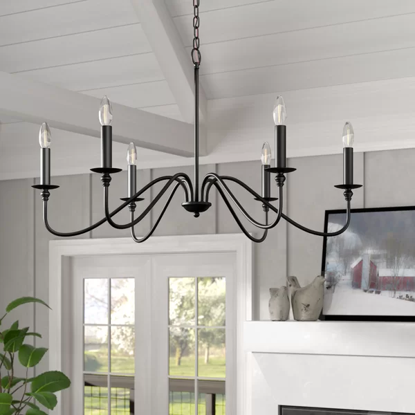 Hamza 6-Light Candle Style Chandelier | Candle style chandelier .