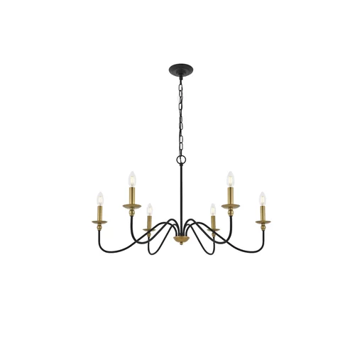 Hamza 6 - Light Candle Style Chandelier | Candle style chandelier .