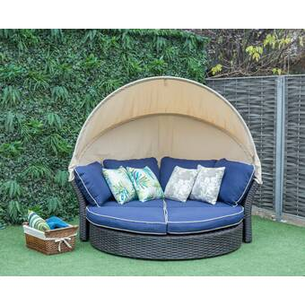 Harlow Patio Daybed with Cushions & Reviews | Joss & Ma