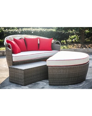Deals on Garden Grove Patio Daybed with Cushions Beachcrest Ho