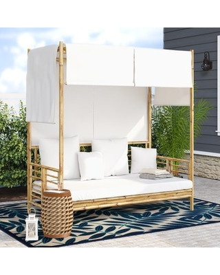 Great Sales on Aubrie Patio Daybed with Cushions Beachcrest Ho