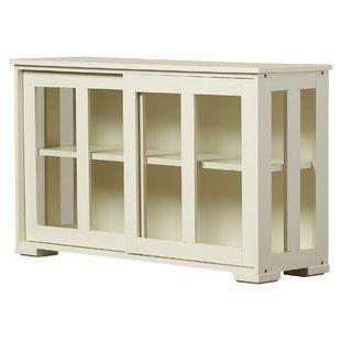 World Menagerie Haroun Mocha Sideboard | Wayfair | Glass cabinets .