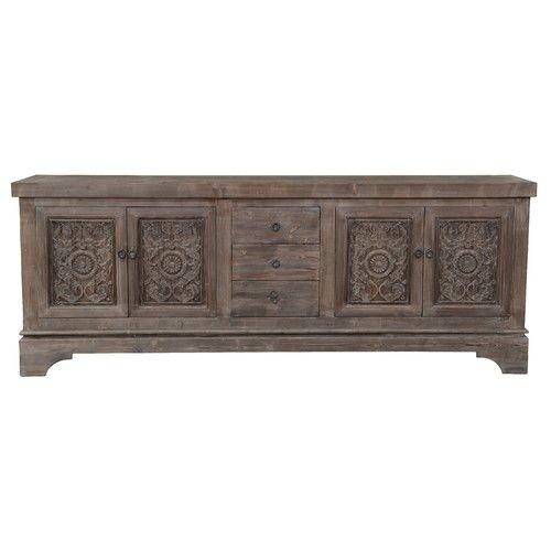 Haroun Mocha Sideboard | Classic sideboard, Solid wood sideboard .