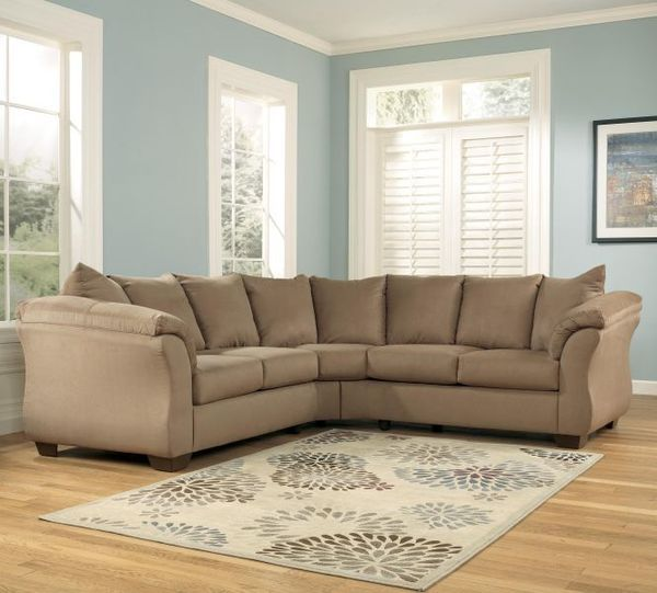 Like new mocha sectional in Harrisburg, PA (sells for $300 .