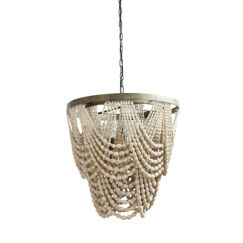 Hatfield 3-Light Unique / Statement Geometric Chandelier | Wood .