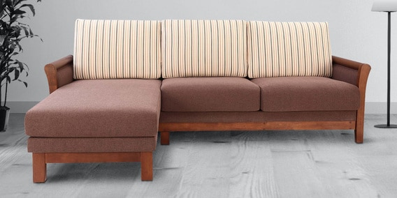 Buy Hawaii RHS Sofa in Walnut Finish by Stories Online - Lawson .