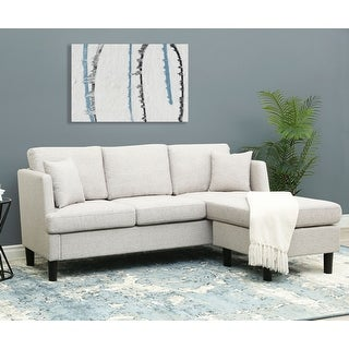 Shop Abbyson Haynes Fabric Reversible Sectional - Overstock - 312651