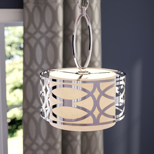Willa Arlo Interiors Helina 4 - Light Drum Pendant & Reviews | Wayfa